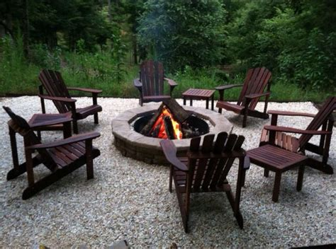 Fire pit with adirondack chairs odena firepit pinterest