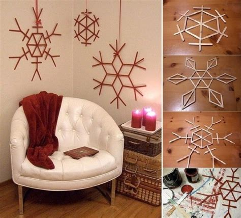christmas decoration ideas to make at home make christmas decorations using popsicle sticks find