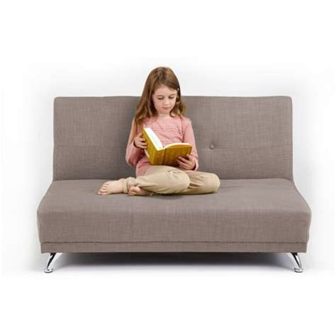childrens 2 seater sofa 163 149 97 light grey 2 seater convertible clic clac