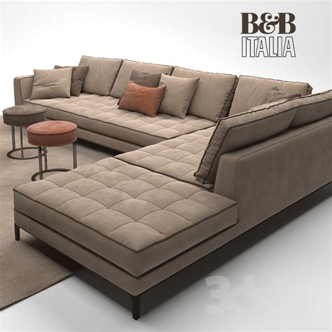 sectional model 3d models sofa maxalto b b italia lucrezia sofa