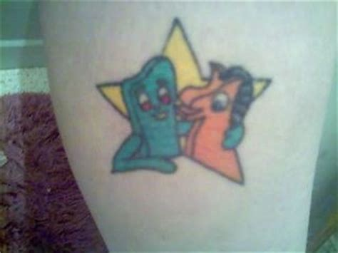 cartoon gumby tattoo gumby tattoo tattoos pinterest tattoos and body art