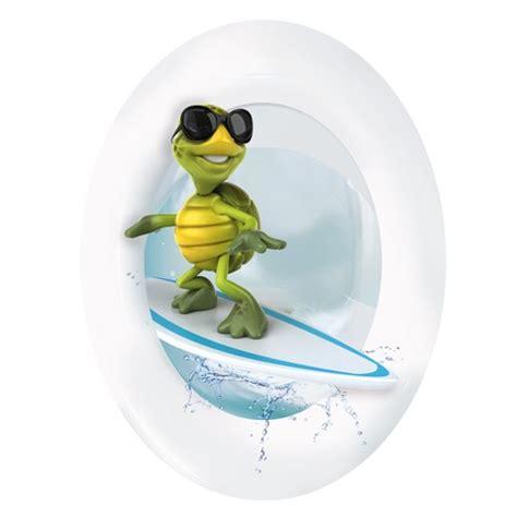 lustige toilettendeckel wc aufkleber schildkr 246 te surfer