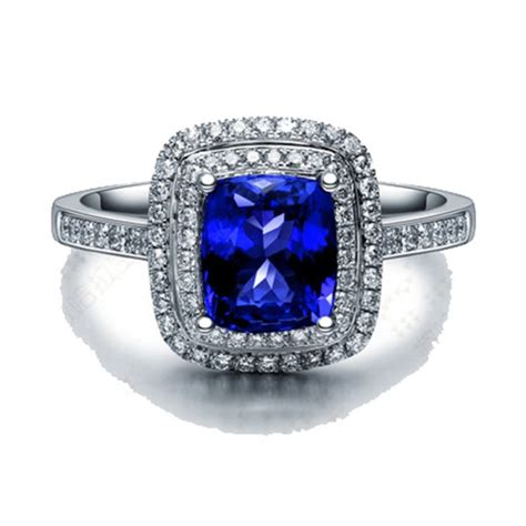 vintage 2 carat blue sapphire and halo engagement