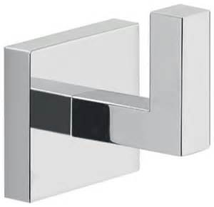 Modern Bathroom Hooks Modern Square Wall Mounted Chrome Bathroom Hook Contemporary Robe Towel Hooks By