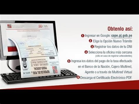 como tramitar carta no antecedentes penales youtube c 211 mo obtener tus antecedes penales por internet youtube
