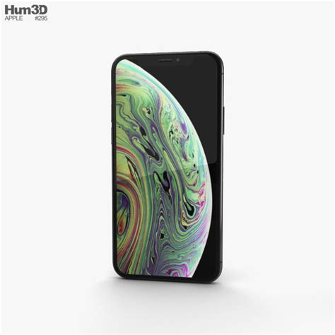 apple iphone xs space gray 3d model hum3d
