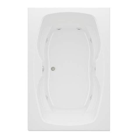 aquatic hialeah ii reversible drain acrylic whirlpool bath tub