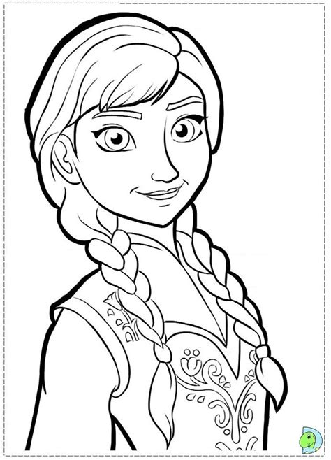 frozen anna pic coloring pages printable coloring pages