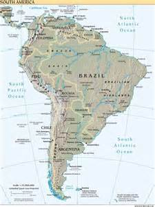 physical feature map of south america america