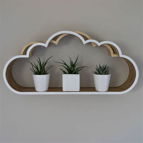 wooden cloud shelf unit by youbadcat notonthehighstreet