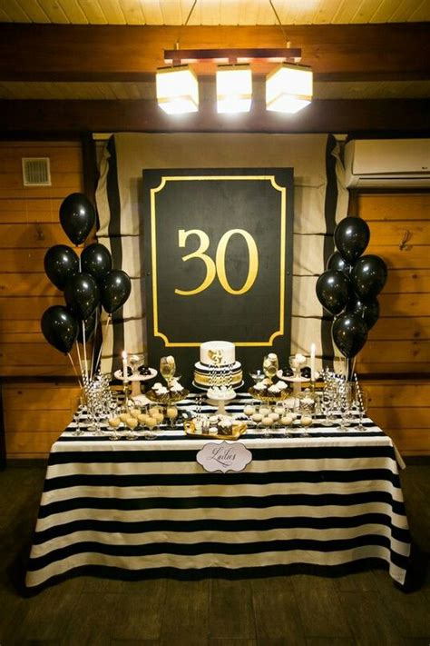party themes black and gold 23 cute glam 30th birthday party ideas for girls shelterness