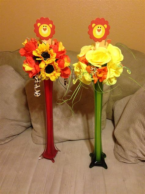 70 Best Lion King Baby Shower Images On Pinterest Baby King Baby Shower Centerpieces