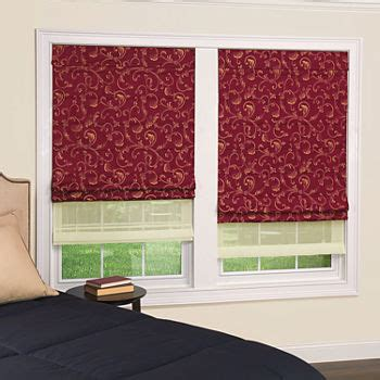 red blinds shades  window jcpenney