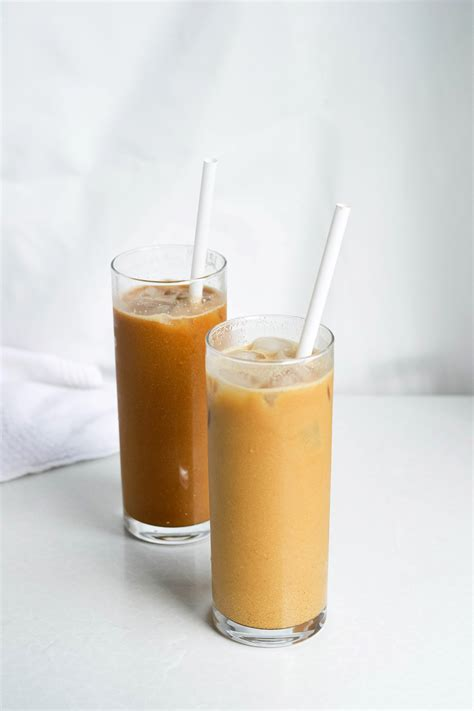 Macadamia iced coffee with vanilla syrup   Mitzy At Home