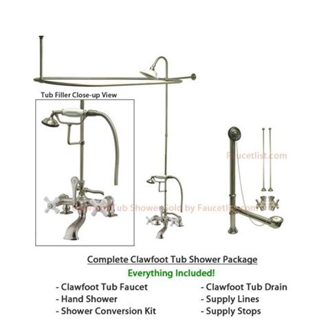 clawfoot bathtub shower conversion kit 1000 ideas about bathtub faucets on pinterest awesome