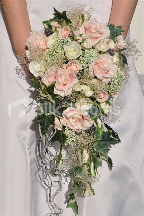 Wedding Bouquet Gypsophila by Shop Woodland Inspired Pink And Ivory Cascade Bridal
