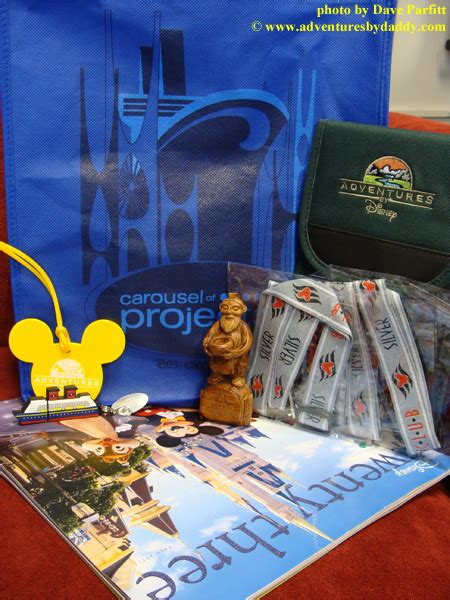 Disney Vacation Club Silver Anniversary Sweepstakes - friday freebie disney d23 expo swag bag giveaway