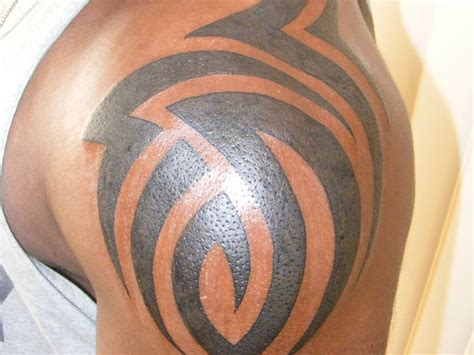 tribal tattoos on black skin tribal tattoos on black skin design idea for and