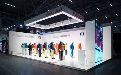 exhibition booth design germany kappa ski exhibition stand by gran torino design at ispo