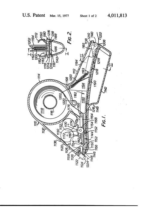 monarch 1110 parts diagram patent us4011813 label dispensing and applying apparatus