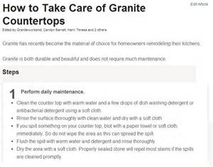 How To Clean Kitchen Countertops by Kitchen Tips Care And Maintenance Of St Louis Granite