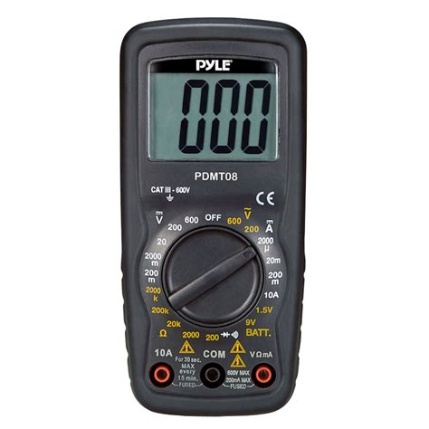 check resistor with multimeter pyle car audio pdmt08 compact digital multimeter with ac dc voltage current resistance