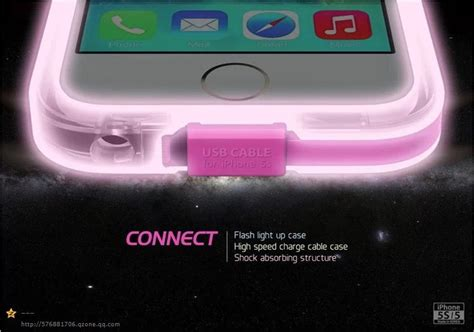 lights that connect to iphone 2014 flash connect lighting up clear tpu pc cover case for