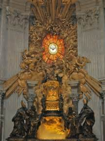French Throne Chair Throne Of St Peter With Holy Spirit Window Bernini