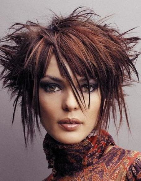 shoulder length spiky punk hair ladies hair styles 20 funky hairstyles for medium length hair