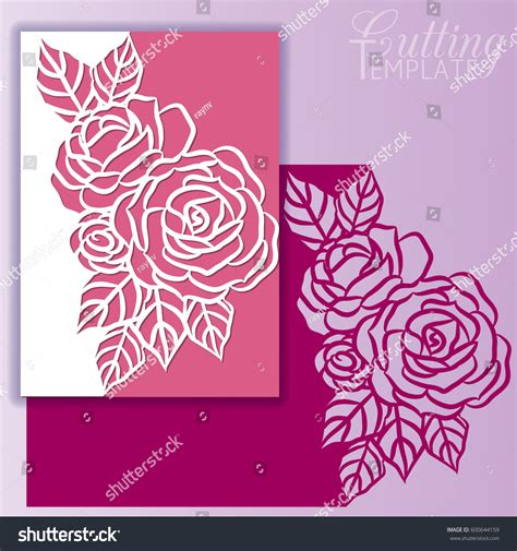 Paper Wishes Card Templates by Paper Greeting Card Lace Border Pattern Stock Vector