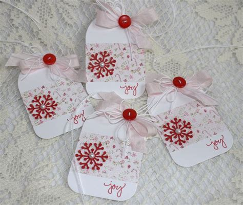 handmade holiday gift tags cards paper crafts pinterest