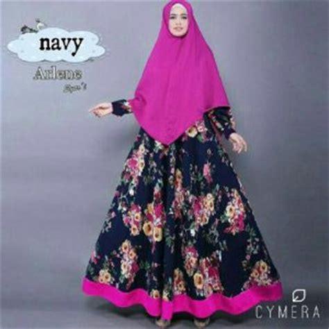 Fashion Wanita Muslim Setelan Gamis Syari Pashmina Rivada Bahan Jersey baju muslim wanita setelan pashmina cantik terbaru