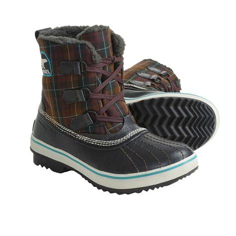 plaid boots sorel tivoli plaid winter pac boots for 3699x