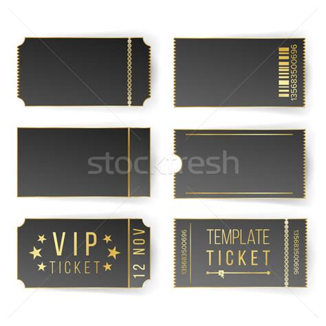 free vip ticket template on business card stock coupon stock photos stock images and vectors stockfresh