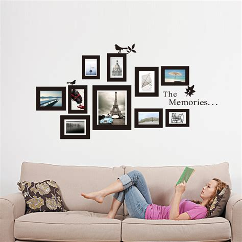 Wall Paperwallstickerphoto Wall Vue 10x picture photo frame wall mural black frames sticker vinyl decal home diy ebay