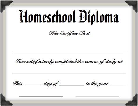homeschool diploma template my homeschool graduation homeschoolers anonymous