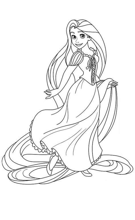 rapunzel coloring pages easy princess rapunzel colouring pages disney princess rapunzel