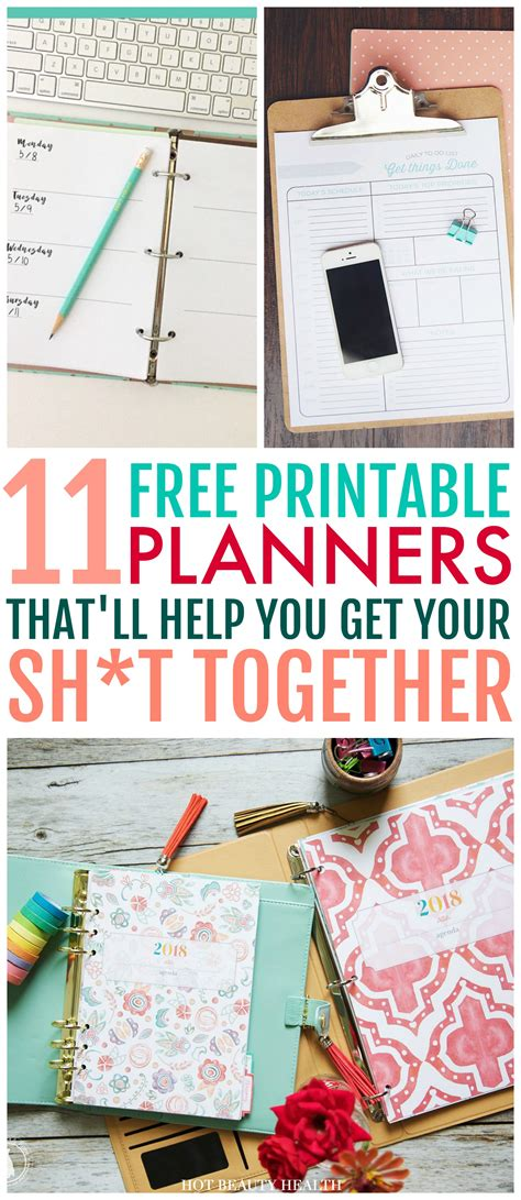 11 Free Printable Planners To Help Get Your Life Together   11 free printable planners to help get your life together