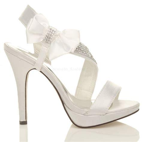 bridal shoes platform high heels womens wedding evening prom high heel platform