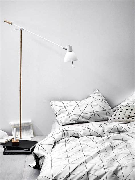 black and white grid pattern bedding scandinavian design 10 modern floor ls ideas