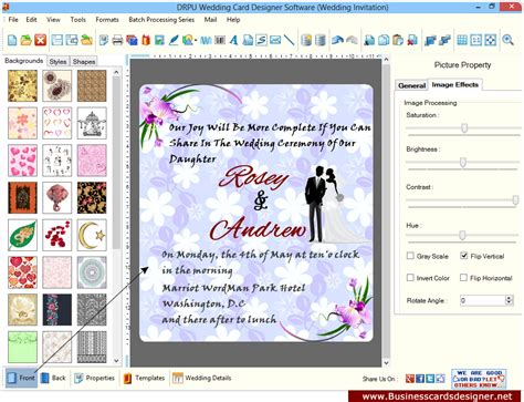 invitation graphic design software wedding invitation design software wedding card designer