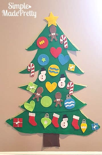 christmas trees to cut yourself diy felt tree for with free cricut cut file simple made pretty