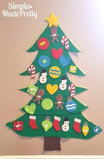 felt shingle tree diy christmas decorations kids will diy felt christmas tree for kids with free cricut cut file