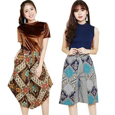 Dress Batik V Dress Batik Kantor Dress Batik Kondangan batik cullote skirt skort kulot batik rok batik