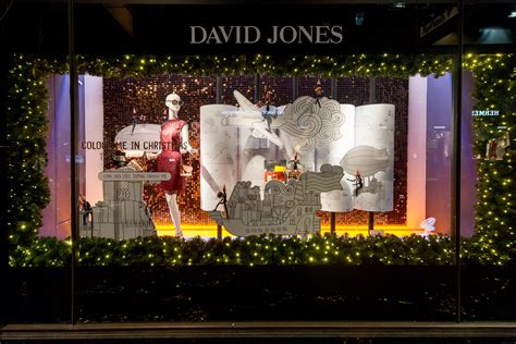 the unveiling of the david jones christmas windows elle