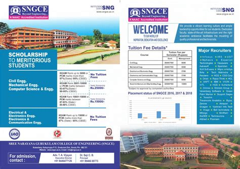 Kerala Mba Rank List by Sngce Best Engineering Colleges In Eranakulam Kerala