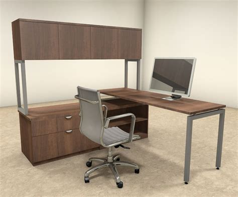 executive office desk set 3pc l shaped modern contemporary executive office desk set