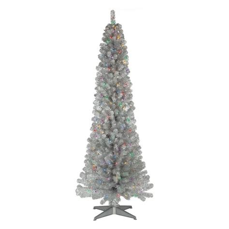 6ft black christmas tree pre lit princess decor