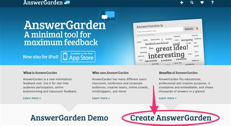 Answer Garden Innovate Instruct Inspire Answer Garden A And