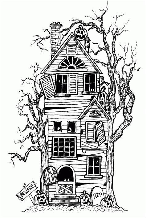 coloring pages haunted house halloween halloween coloring pages haunted house coloring home